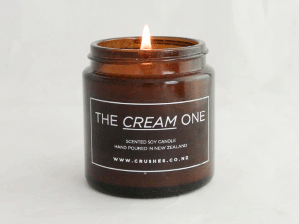 crushes candle the cream one