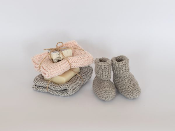 knitted clothes and booties